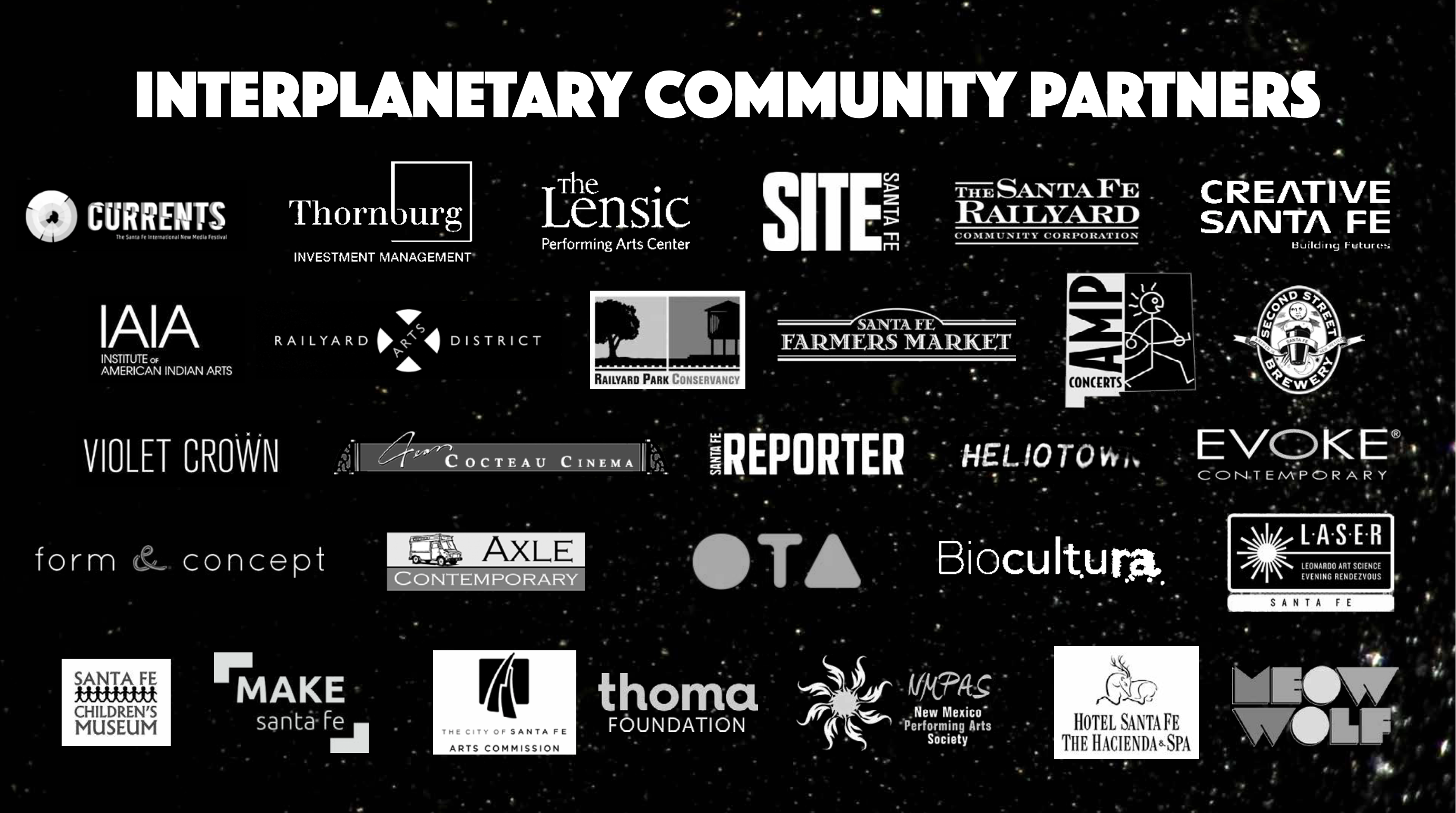 Logos of InterPlanetary Community Partners